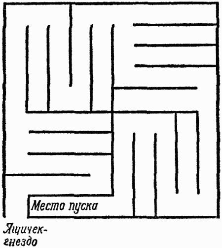 План лабиринта с параллельными