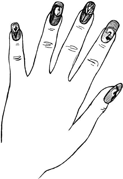 Как сейчас модно красить ногти 113