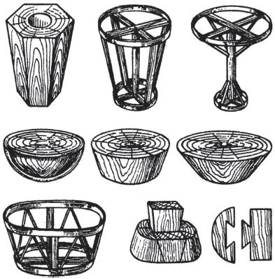 Шаблон для плетения корзины из лозы