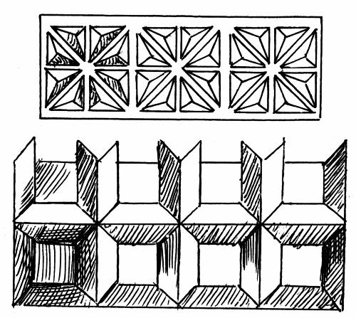Узоры геометрической резьбы