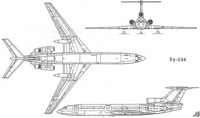Испытания Ту-154 в основном