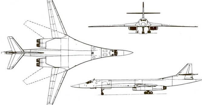 Схема самолета Ту-160