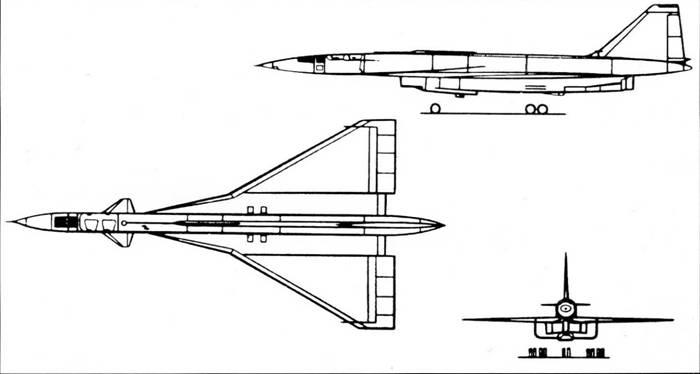 Схема самолета Т-4
