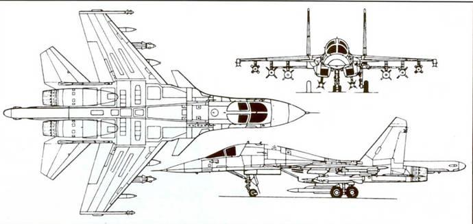 Схема самолета Су-34