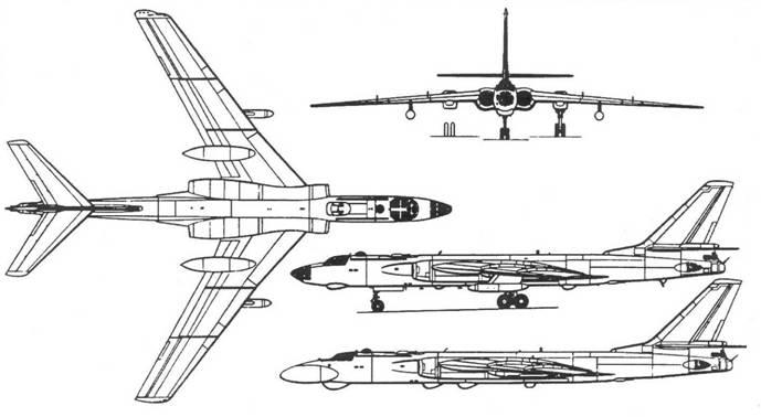 Схема самолета Ту-16