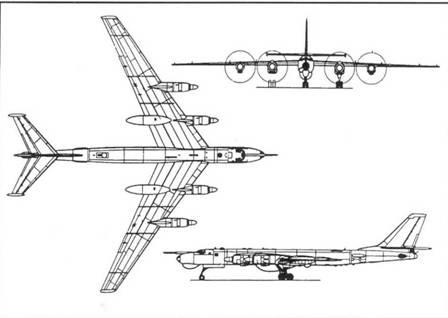 Схема самолета Ту-95